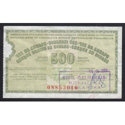 500 dinara 1983 - Cheque