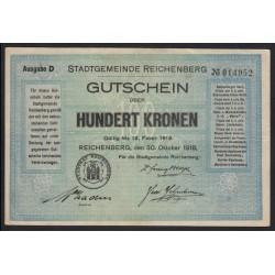 100 kronen 1918 - Reichenberg