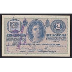 2 kronen/korona 1919 - Szerb katonai bélyegzés