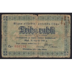 3 rubli 1919 - Riga