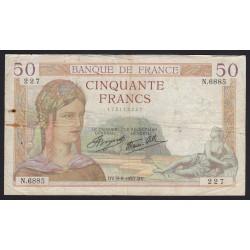 50 francs 1937