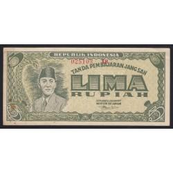 5 rupiah 1947