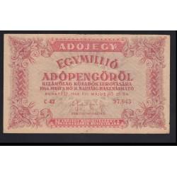 1.000.000 adópengő 1946 - FORDÍTOTT CÍMER