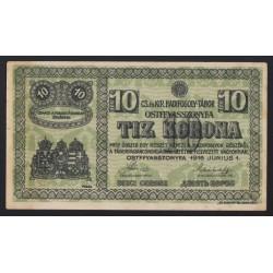 10 kronen/korona 1916 - Ostffyasszonyfa