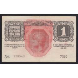 1 kronen/korona 1916 - 7000 FÖLÖTTI SORSZÁM