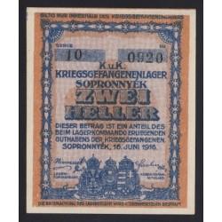 2 heller/fillér 1916 - Sopronnyék