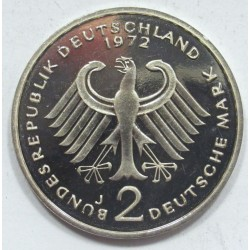 2 mark 1972 J PP - Theodor Heuss