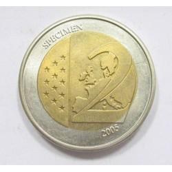 2 euro 2005 - SPECIMEN