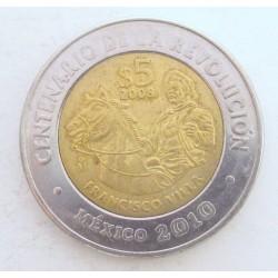 5 peso 2008 - Francisco Villa