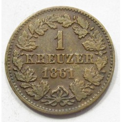 1 kreuzer 1861 - Nassau