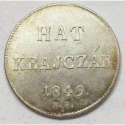 6 kreuzer 1849 NB