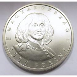 2000 forint 2014 - Zrínyi Miklós