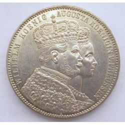 1 thaler 1861 A - Coronation of Wilhelm and Augusta