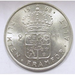 2 kronor 1968 U - Lion without tail