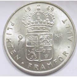 2 kronor 1969 U - Lion without tail