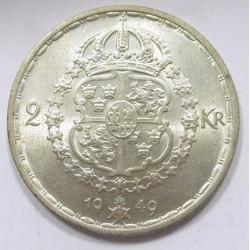 2 kronor 1949 TS