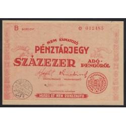 100.000 adópengõ 1946 pénztárjegy