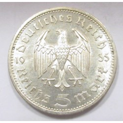 5 reichsmark 1935 E - Hindenburg