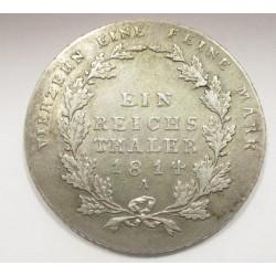 1 thaler 1814 A - Prussia
