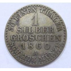 1 silbergroschen 1860 A - Prussia
