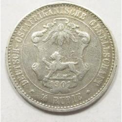 1/4 rupie 1901