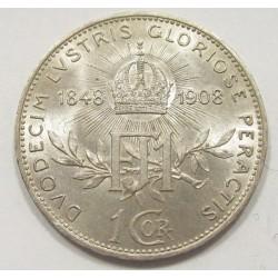 1 corona 1908 - 60th Anniversary of the Reign of Franz Joseph I