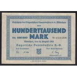 100.000 mark 1923 - Bayerische Bauindustrie