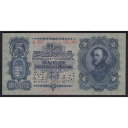 5 pengő 1928 - MINTA