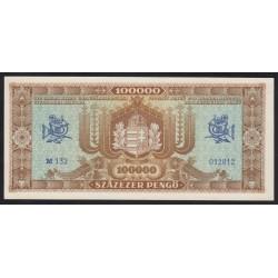 100.000 pengő 1945 - Világos hátoldal