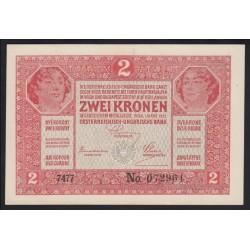 2 kronen/korona 1919 - 7000-es sorszám