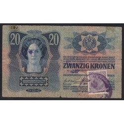 20 kronen/korona 1919 - Belgrádi Pénzügyminisztérium