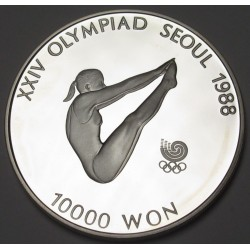 10000 won 1987 PP - Soeul olympics Diving