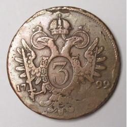 Franz II. 3 kreuzer 1799 B