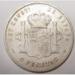 5 pesetas 1898