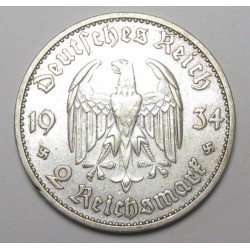 2 reichsmark 1934 D - Garrison church