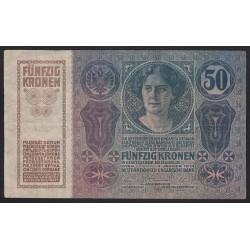50 kronen/korona 1914
