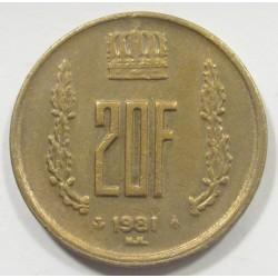 20 francs 1981