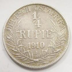 1/4 rupie 1910 J