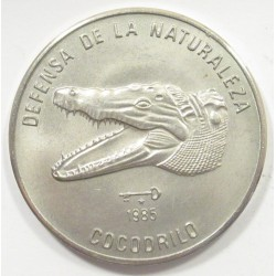 1 peso 1985 - Crocodile
