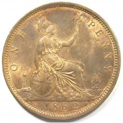 1 penny 1862