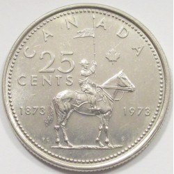 25 cents 1973 - Royal Police