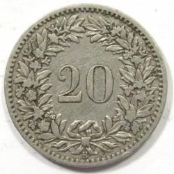 20 rappen 1883