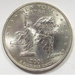 quarter dollar 2001 D - New York