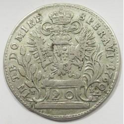 Francis I 20 krajcár 1760 NB
