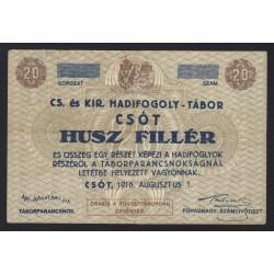 20 heller/fillér 1916 - Csót