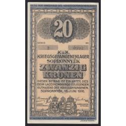 20 kronen/korona 1916 - Sopronnyék