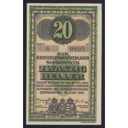 20 heller/fillér 1916 - Sopronnyék