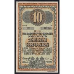 10 kronen/korona 1916 - Sopronnyék