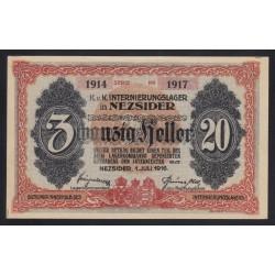 20 heller/fillér 1916 - Nezsider