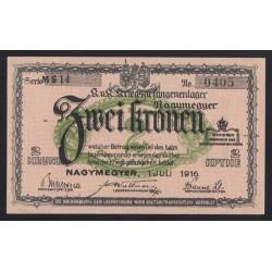 2 kronen/korona 1916 - Nagymegyer